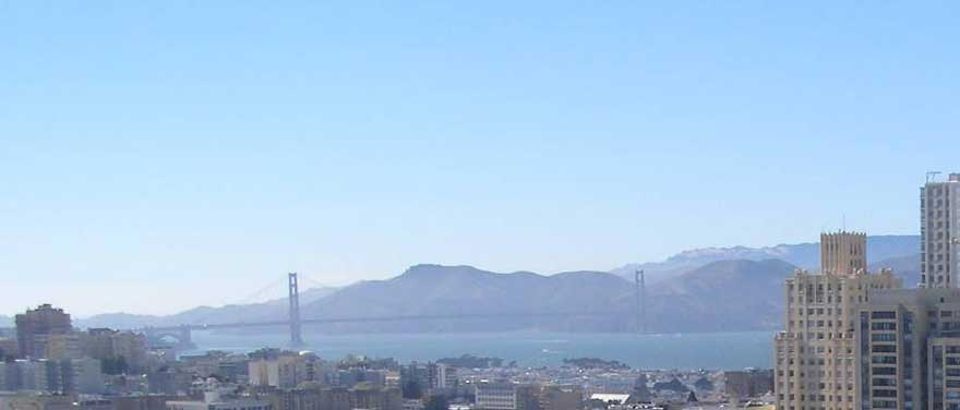 A favourite view of Golden Gate Bridge from The Westin St. Francis, San Francisco