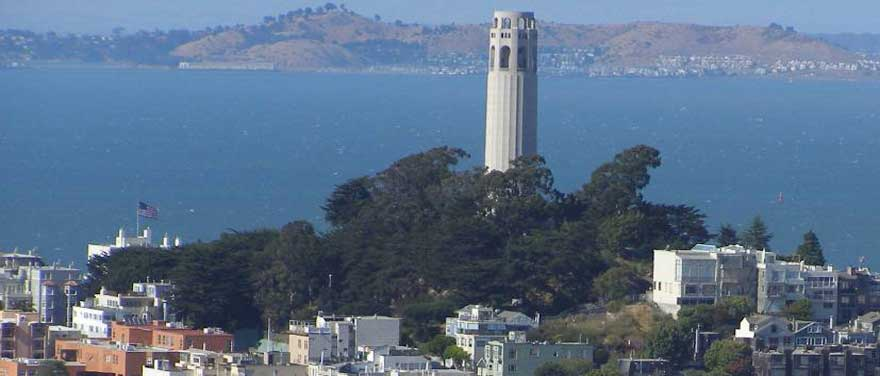 A favourite view of Coit Tower on Telegraph Hill from The Westin St. Francis, San Francisco
